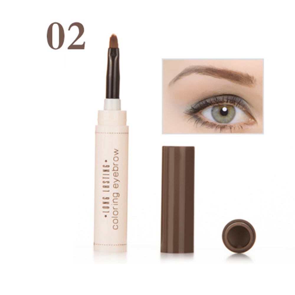 NEW 1PC Natural Makeup Eyebrow Pencil Professional Brow Tint Tattoo Paint Cream Wax Waterproof Eyebrow Brush Pen TSLM2 1