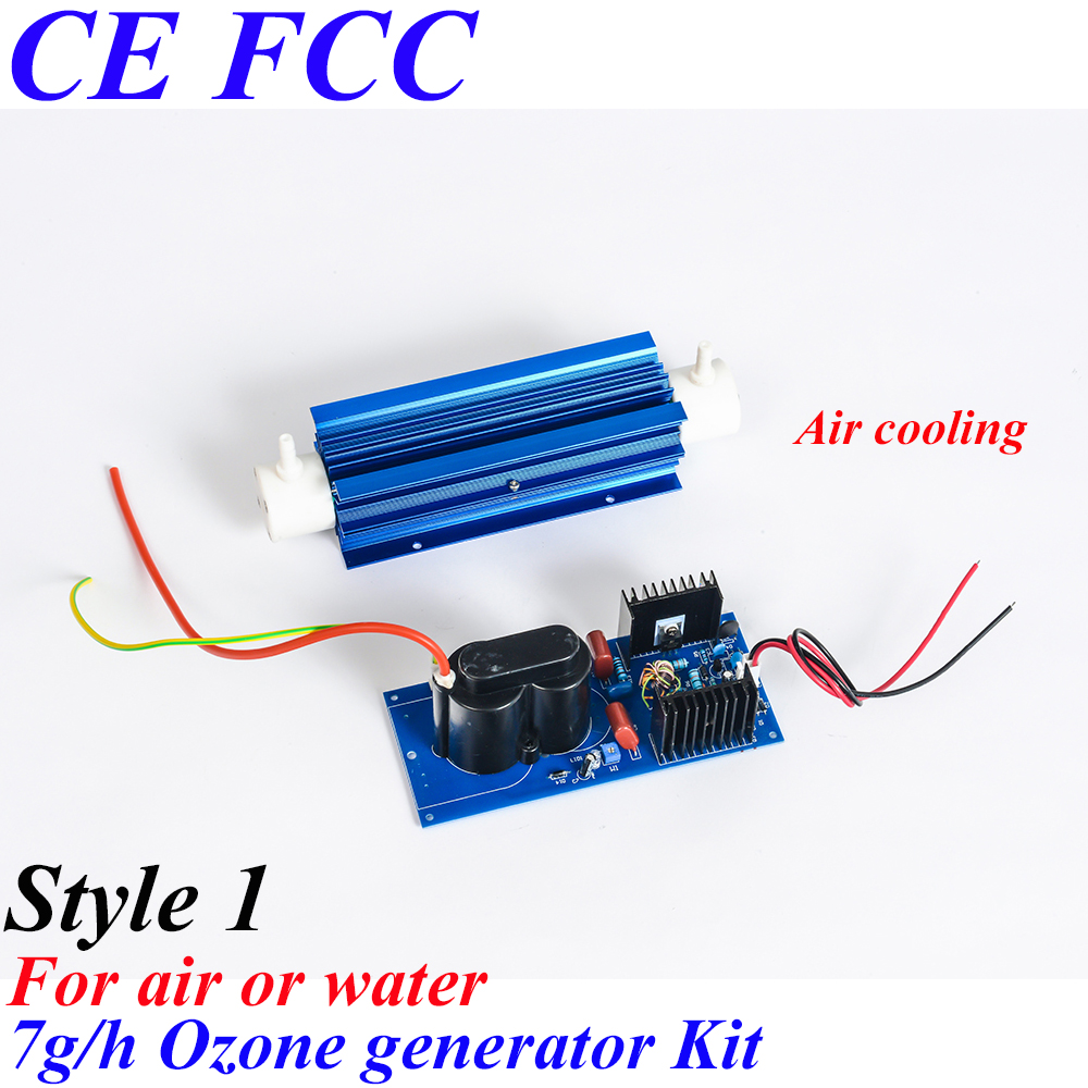 Pinuslongaeva CE EMC LVD FCC 7g/h Quartz tube type ozone generator Kit ozone generator for swimming pool ozone cell ce emc lvd fcc ozone quartz suite for ozone generator