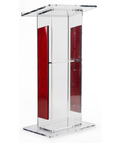 Wholesale Acrylic Lectern With Panels, Includes Removable Shelf, On Podium Surface Easy To Assemble Hardware