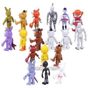 Image 3 - Brinquedos 18 pçs/set Bonnie Foxy das cinco Noites no Freddy Freddy Fazbear Urso PVC Figuras de Ação 18 pçs/set