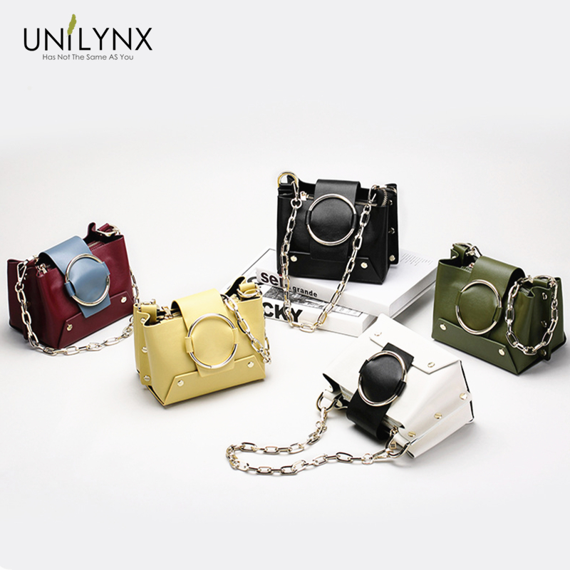 UNILYNX NEW bags for women 2018 luxury handbags Fashion Women bags ladies Bucket bag Female Party shoulder Bags and Rivet Chains вытяжка каминная maunfeld tower round 50 white белый