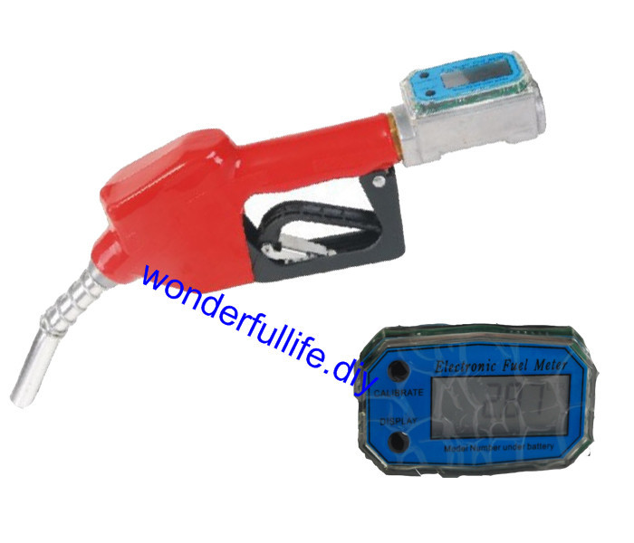 DIGITAL FLOW METER FOR DIESEL COMPLETE WITH AUTO NOZZLE dc def adblue pump kit with flow meter and nozzles
