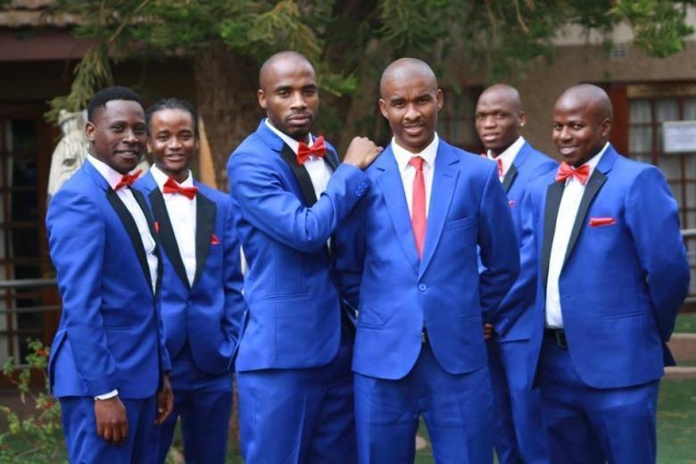 Royal Blue Wedding Bestmen Tuxedos (Jacket+Pants) Custom Made ...