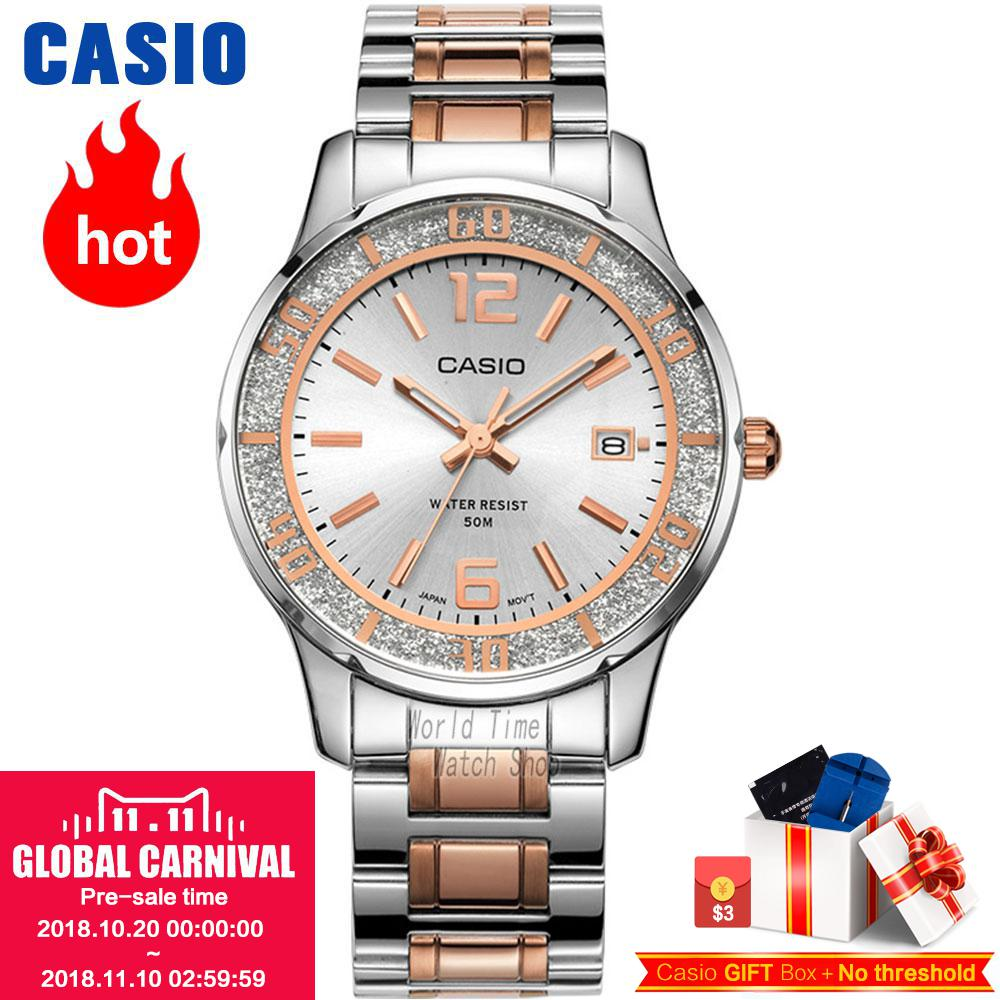 Casio watch Fashion trend quartz watch LTP-1359D-4A LTP-1359D-7A LTP-1359G-7A LTP-1359RG-7A LTP-1359SG-7A casio watch 2018 new fashion trend quartz watch simple fashion waterproof strip ladies watch women watch ltp 1410l ltp 1410d