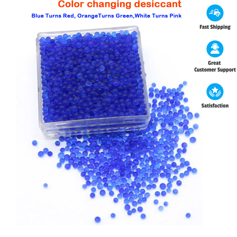 Household RoomSilica Gel Reusable White Orange Blue Moisture Absorber Absorbent Changing Desiccant Box Color Changing Indicating