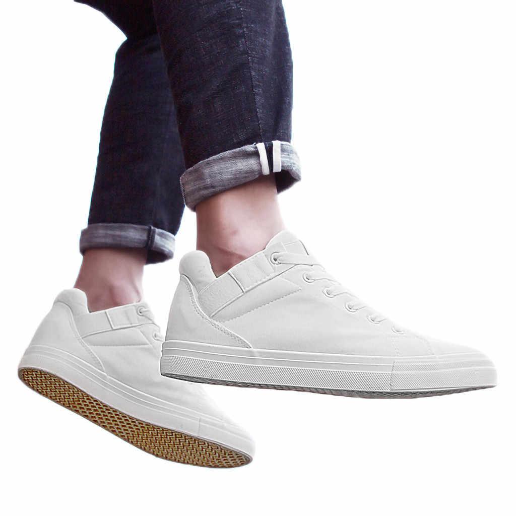 Nova marca de alta superior sapatos casuais para homens lona rendas até sapatos de hip hop dos homens alta superior sapatilha tamanho grande 39-44 dec4