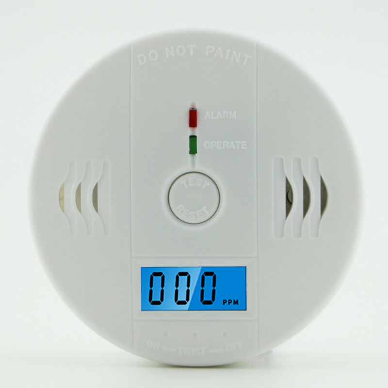 Co carbon monoxide detector poisoning smoke gas sensor for home security warn sp