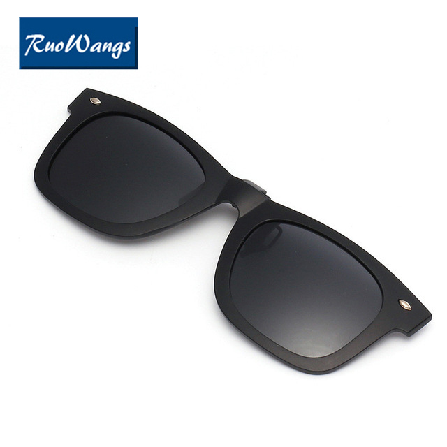 fc0a1bcead RuoWangs Polarized Clip On Sunglasses Over Prescription Glasses Clips Fit Over  Glasses Sunglasses Flip Up Clips sunglass