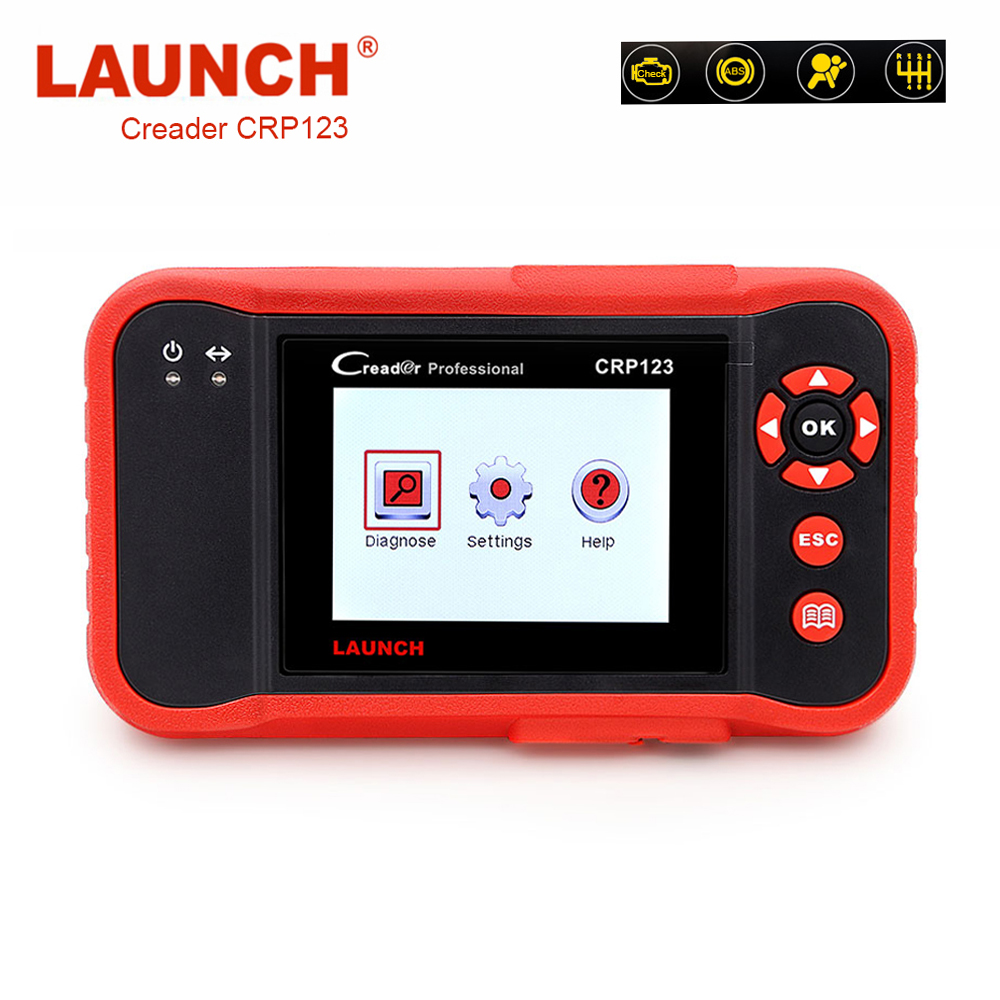 OBD2 Scanner LAUNCH X431 CRP123 ABS Airbag SRS Diagnostic Scanner Fault Code Reader Airbag Crash Data Reset Tool LAUNCH Scanner