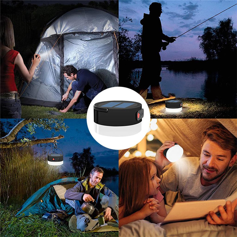 Multi-function Solar Portable Led Camping Lantern 4 Lighting Modes Lights Outdoor USB White Light Lamparas 40JUN601