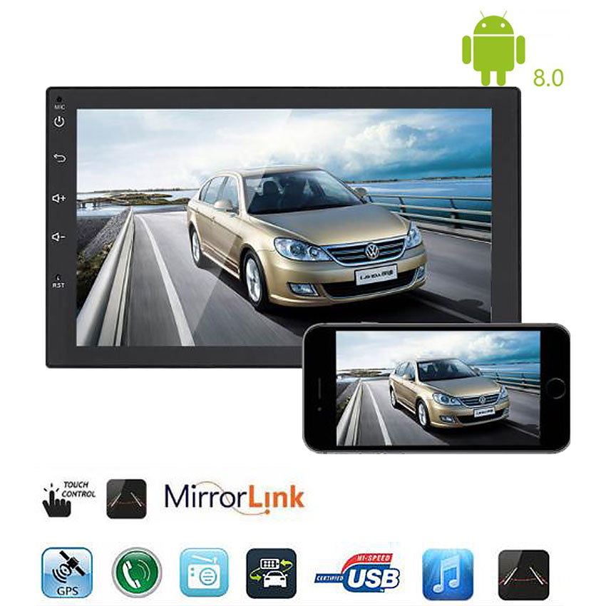 2 Din Android 8.0 Radio MP5 Player GPS Bluetooth Receiver
