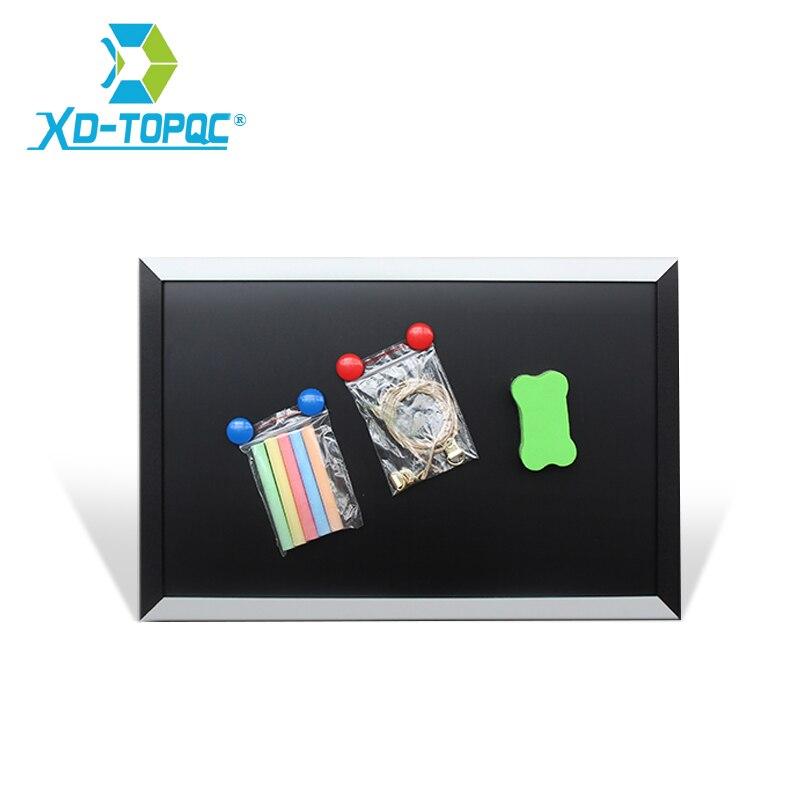 New Arrival Blackboard MDF Black & White Dry Erase Frame Magnetic 20*30cm ChalkBoard Home Decorative Message Board Free Shipping