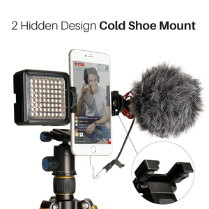Image 3 - ST 05 All in 1 Phone Tripod Mount Clipper w Hot Shoe for Microphone Vertical Video Shoot Tripod Clamp Holder for iPhone XS XR