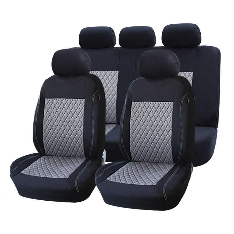ROWNFUR полиэфирное автокресло Универсальный подходит для большинства автомобилей сиденье протектор четыре сезона чехлы автомобильные для сиденья интерьер Стайлинг 1 компл.