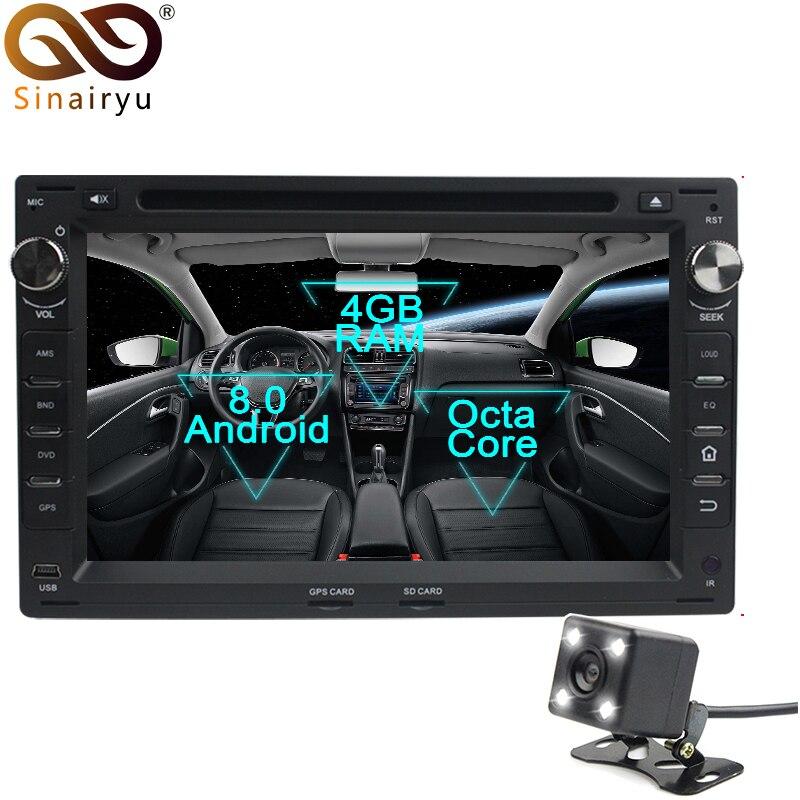 Lecteur DVD de voiture Sinairyu Android 8.0 Octa Core pour VW Passat B5 Golf 4 Polo Bora GPS Navigation multimédia Radio stéréo unité de tête