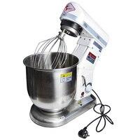 220 В 10L Электрический стенд тестомес бытовых коммерческих планетарный миксер белое яйцо хлеб смеситель для профессиональный миксер для тес