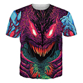 Moda clothing hiper besta t-shirt psicodélica encabeça mulheres homens tshirt 3d harajuku t shirt roupas de algodão ocasional tee