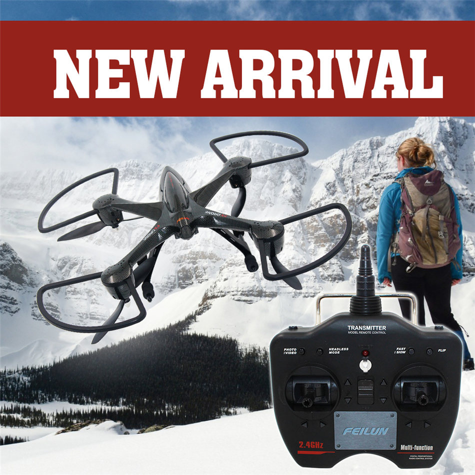 Remote Control Drone 4 axis 4 channels Big headless mode 2 level speed rc Helicopter can remote 300 meter FX137 Drone toy VS X5C original mini drone 4ch 2 4g 6 axis gyro 2 0mp rtf camera remote control quadcopter rc aircraft toy headless mode helicopter toy