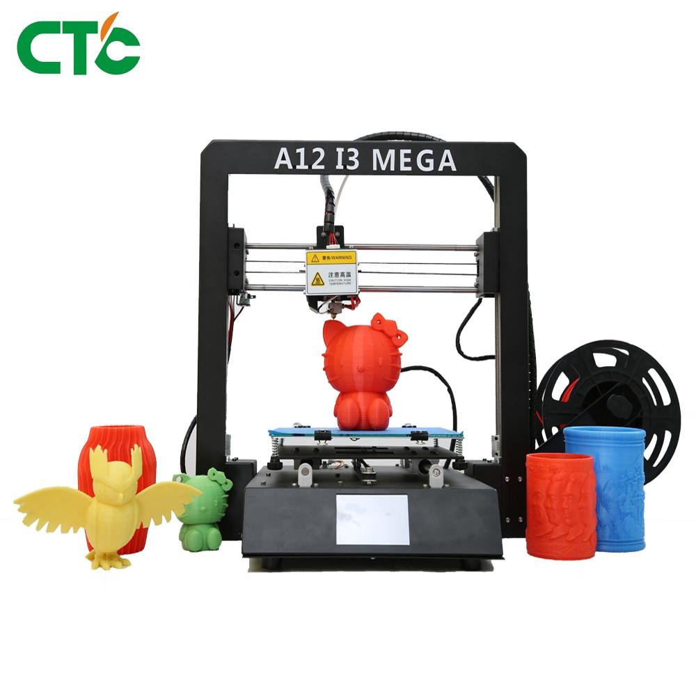Nova A12 I3 Mega 3D Impressora Power off Retomar A Tela Sensível Ao Toque TFT de Impressão Full Metal 3d Impressora 3D Drucker Impresora partes