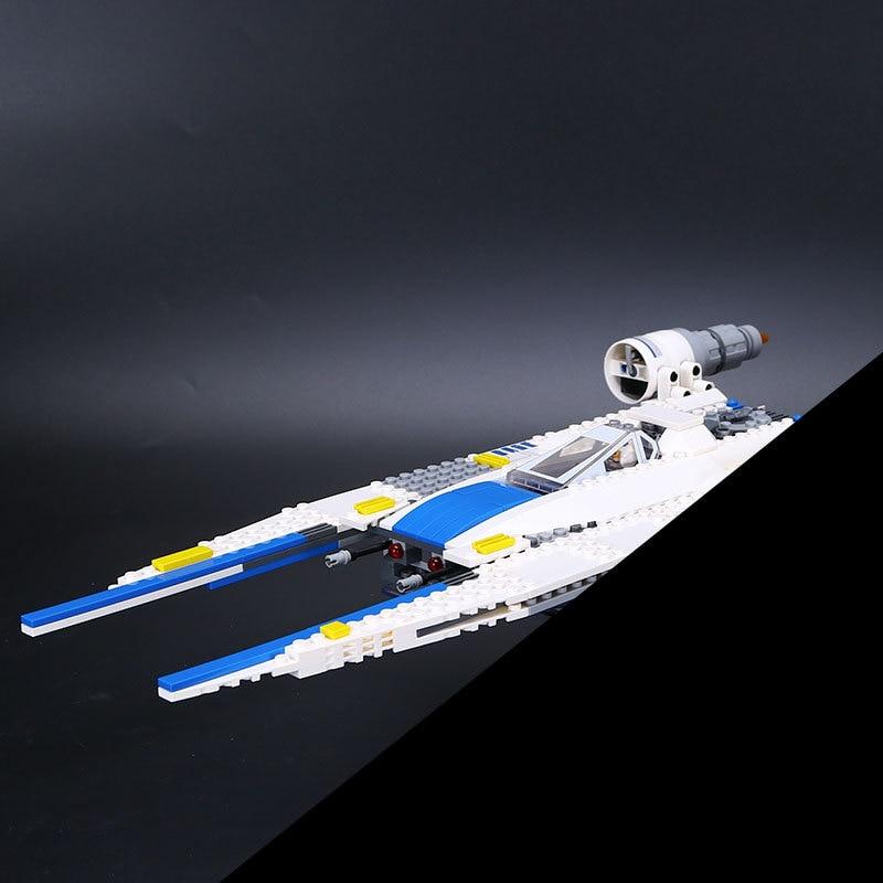 Lepin 05054 679pcs Star Series War Building Blocks Genuine The U Model Wing Fighter Set 75155 kids Bricks Christmas toy gift