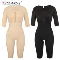 VASLANDA Womens Full Body Shaper Postpartum Recovery Slimming Underwear Waist Corset Girdle Bodysuits Fat Reductora Shapewear