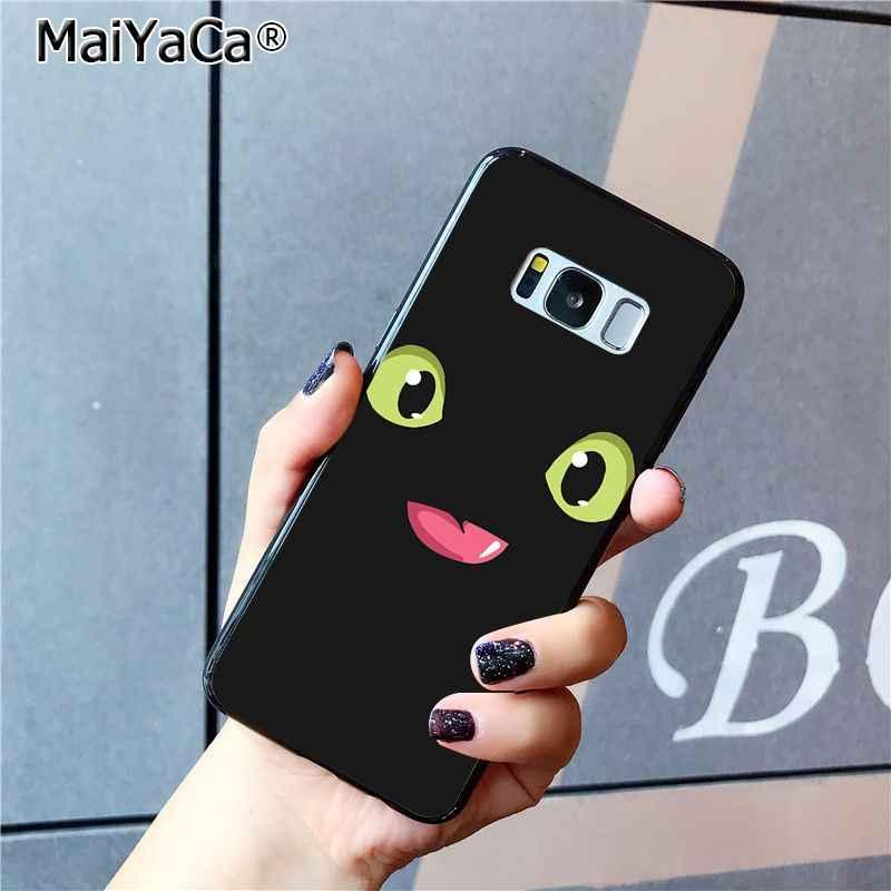 MaiYaCa tren sin dientes tu dragón Coque funda para teléfono carcasa para Samsung Galaxy S9 plus S7 edge S6 edge plus S5 S8 plus funda