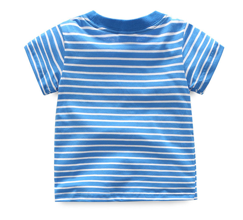 HTB1xev5QFXXXXbnXFXXq6xXFXXXZ - 2017 New Brand top quality kids clothing summer boys short sleeve O-neck t shirt Cotton embroidery cartoon striped tee tops