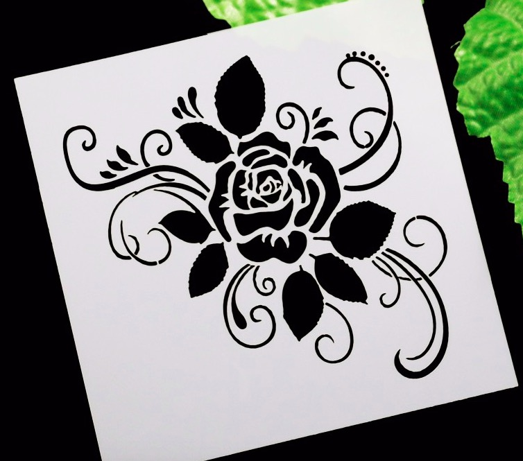Rose Flower DIY Craft Layering Stencils For Walls Scrapbooking Painting Template Stamps Album Decorative Embossing Paper Cards In From Home Garden