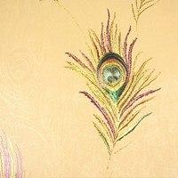Mode goldfolie pfau tapete feder tapete hintergrund wand entranceway tapete