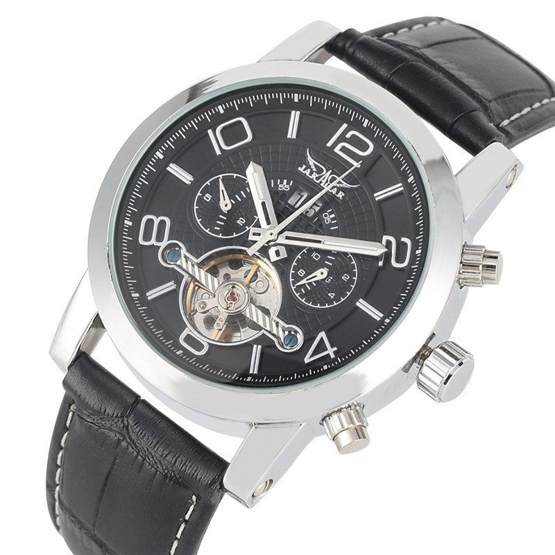 Automatic Mechanical Watches For Men Self-Wind Calendar Mechanical Wristwatch Skeleton Mechanical Wristwatches Reloj Hombre