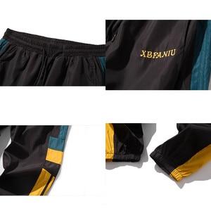 Image 5 - Joggers Sweatpants Men Casual Striped Pants Fashion Loose Track Pants Men Sweat Pants Sports Japanese Streetwear White Black