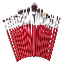20Pcs Eyes Makeup Brushes Set Pro Powder Blush Foundation Eyeshadow Mascara Eyeliner Lip Cosmetic Brush Kit Beauty Tools