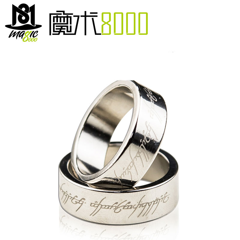 Strong Magnetic Magic Ring Magnet Ring Coin Magic Tricks Finger Decoration Magician Ring Magie Close Up Magia