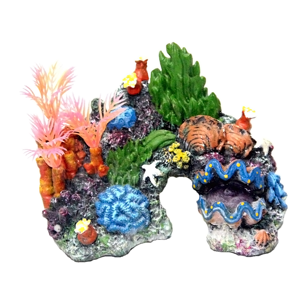 Fish tank aquarium castle hill - Fish Tank Landscape Simulation Aquarium Rockery Shell Coral Water Plant Decoration Aquarium Accessories Fish Tank Accessories