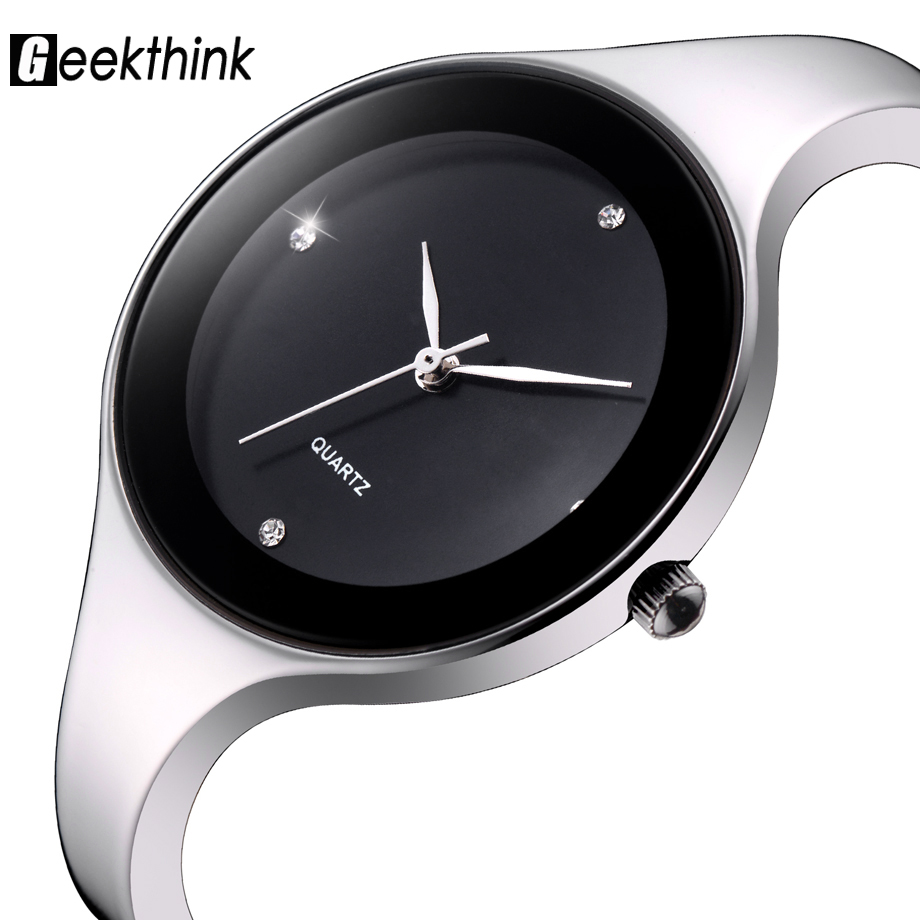 Geekthink New Fashion Relojes mujer  Wristwatch Bracelet Quartz watch Woman Ladies Watches Clock Female Dress Relogio Feminino relojes mujer classic new fashion casual watches women dress quartz watch mickey hollow dial leather wristwatch relogio feminino