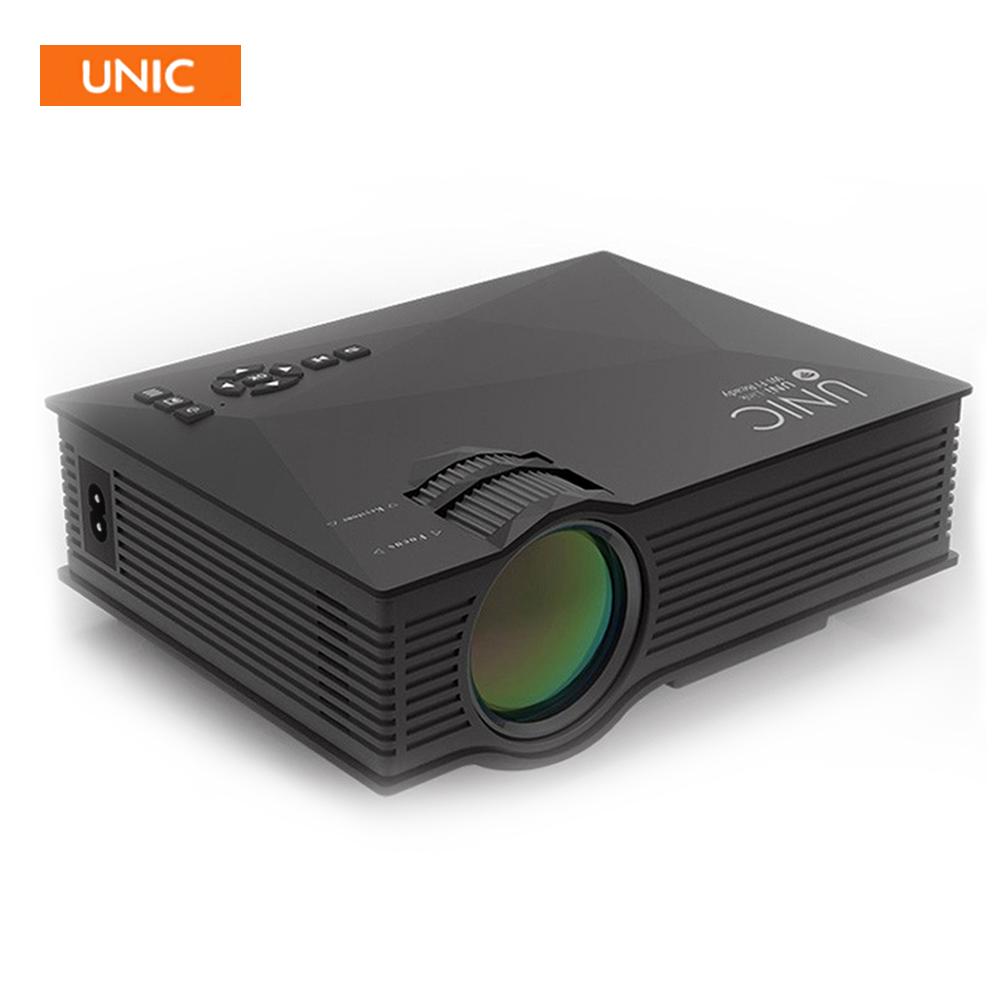 Prix pour 2016 date d'origine unic uc46 mini portable projecteur miracast soutien full hd 1080 p vidéo home cinéma 1200 lumens proyector
