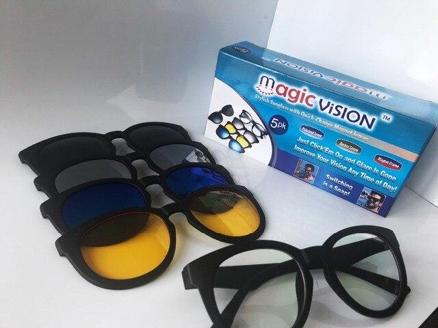 4889fc200 Lentes de Visão óculos de Sol À Moda Com Quick-change Ímã mágico 5 Cores