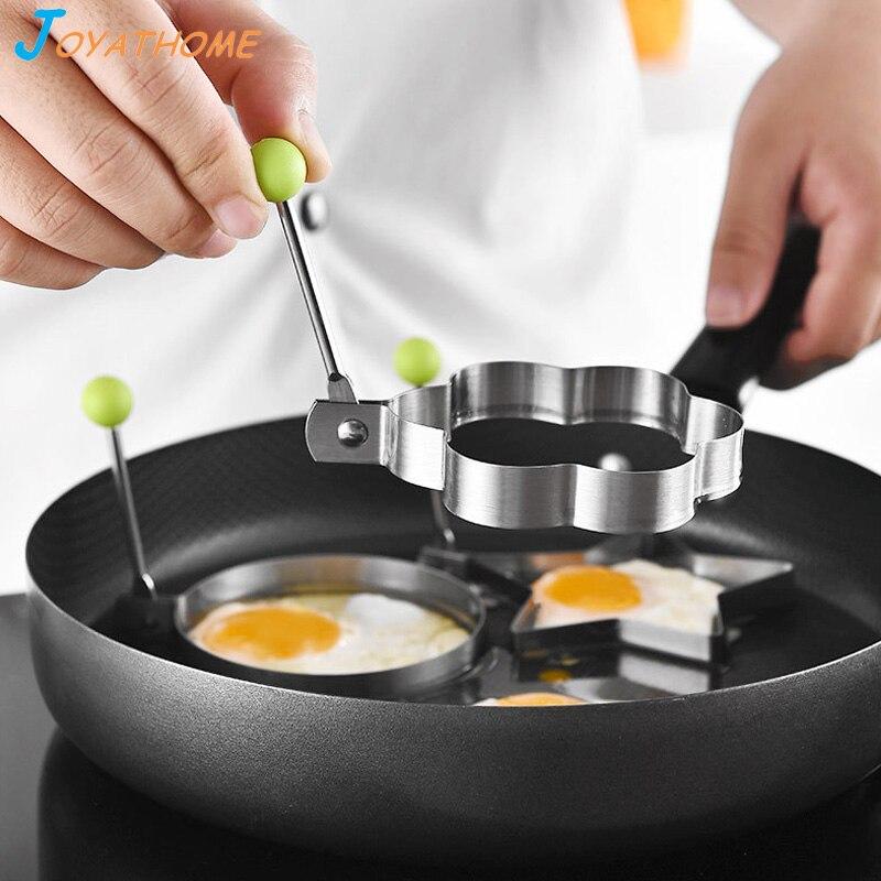 Joyathome 10pcs Set Stainless Steel Fried Egg Mold Kitchen Tool Pancake Rings Cooking Egg Kitchen Gadget Kitchen Appliances in Egg Pancake Rings from Home Garden