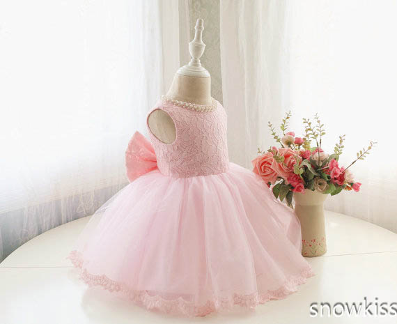 Baby Pink Lace 2019 flower Girl Dresses pearls beaded Toddler ball gown Birthday Dress With Bow prom Pageant Dress лайтбокс абстракция 5 45x45 060