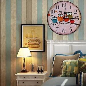 silenzioso orologio da parete retro antique vintage digitale europa gufo rustico shabby cucina orologio al quarzo