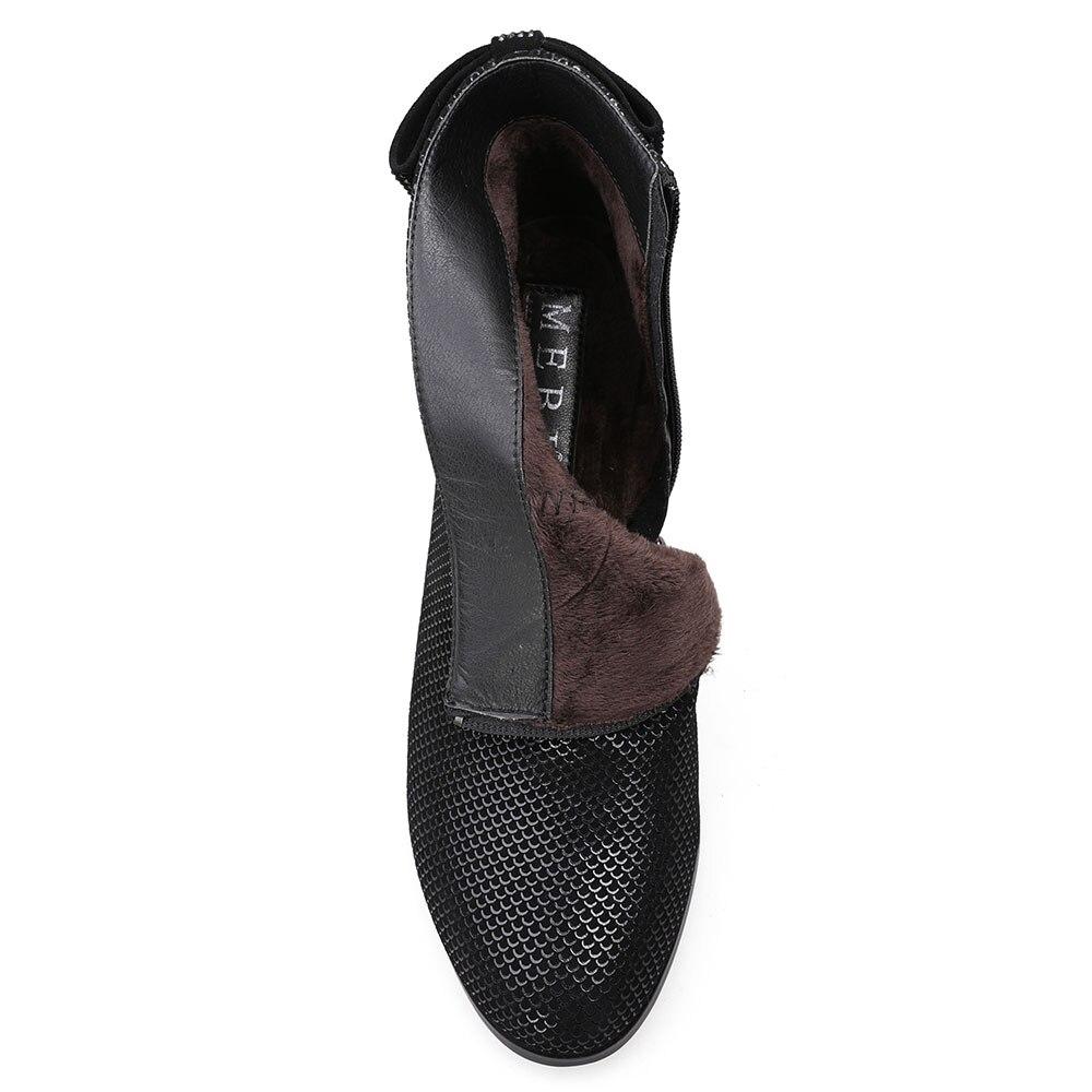 Med En Daim Chaussures À De Bottes Talons Hauts Femmes Mode Qualité Automne Wool Luxe 2018 Mebi Occasionnels Haute Cheville TkZOPXiu