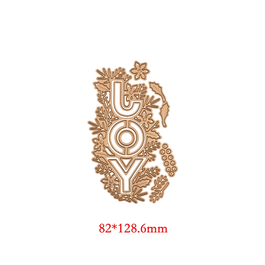 Joy Flower Wrap Pattern Metal Cutting Dies Stencil Scrapbooking Embossing For Paper Card DIY Crafts Supplies
