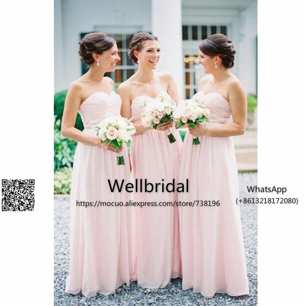 Blush chiffon bridesmaid dresses popular long blush chiffon bridesmaid dresses buy cheap long blush ombrellifo Images