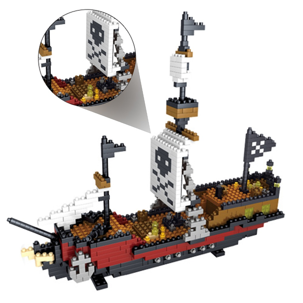 Pirate RMS Titanic Ship Model Action Figure ABS Bricks Building Blocks Educational Toys for Children Kids Christmas Xmas Gifts