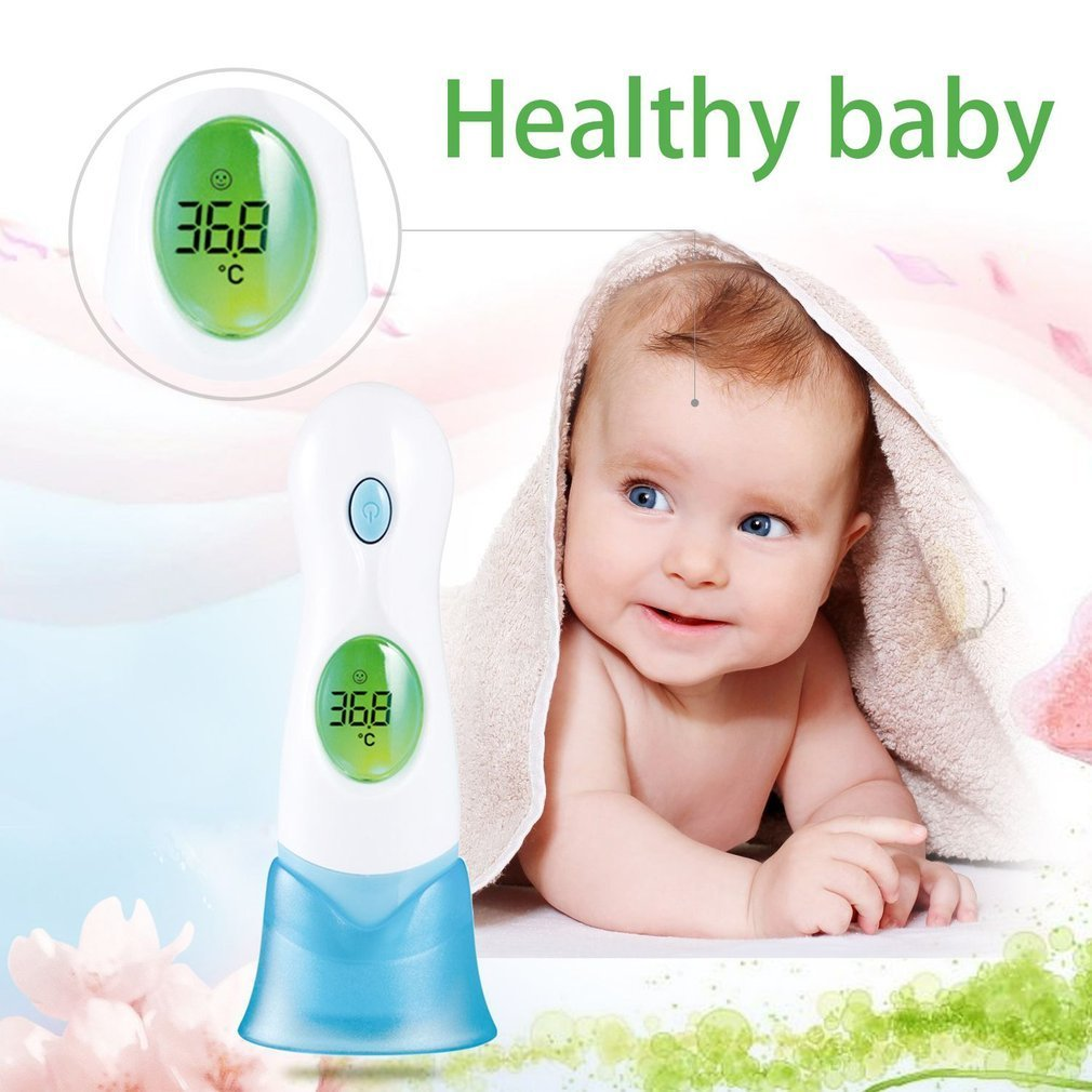 Infrared Thermometer LCD Display Digital 8 In 1 Multifunctional Baby Adult Ear Forehead Health Monitor termometro Temperature