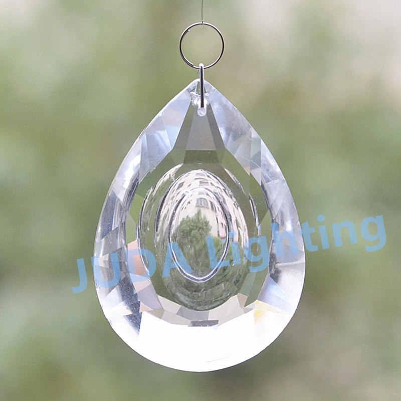 נברשת קריסטל חרוזים זכוכית מנורת קריסטל עבור led אור נר אור וילון חתונה קישוט חרוזים תאורת אביזרי DIY