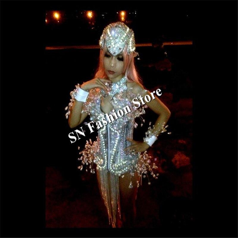 AS009 LED luz trajes de baile de las mujeres vestido de salón de - Para fiestas y celebraciones - foto 4