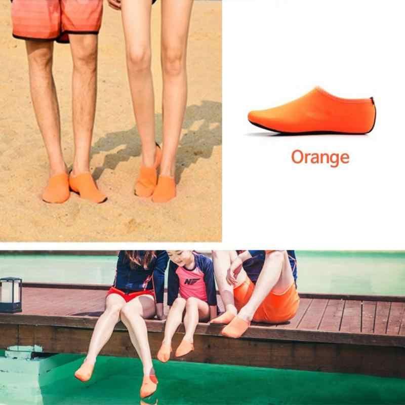 Dayanıklı Taban Yalınayak Su Cilt Ayakkabı Erkekler Kadın Aqua ayakkabı Anti Kayma plaj ayakkabısı Yüzme Yoga Su Sporları Aerobik Çorap Ayakkabı