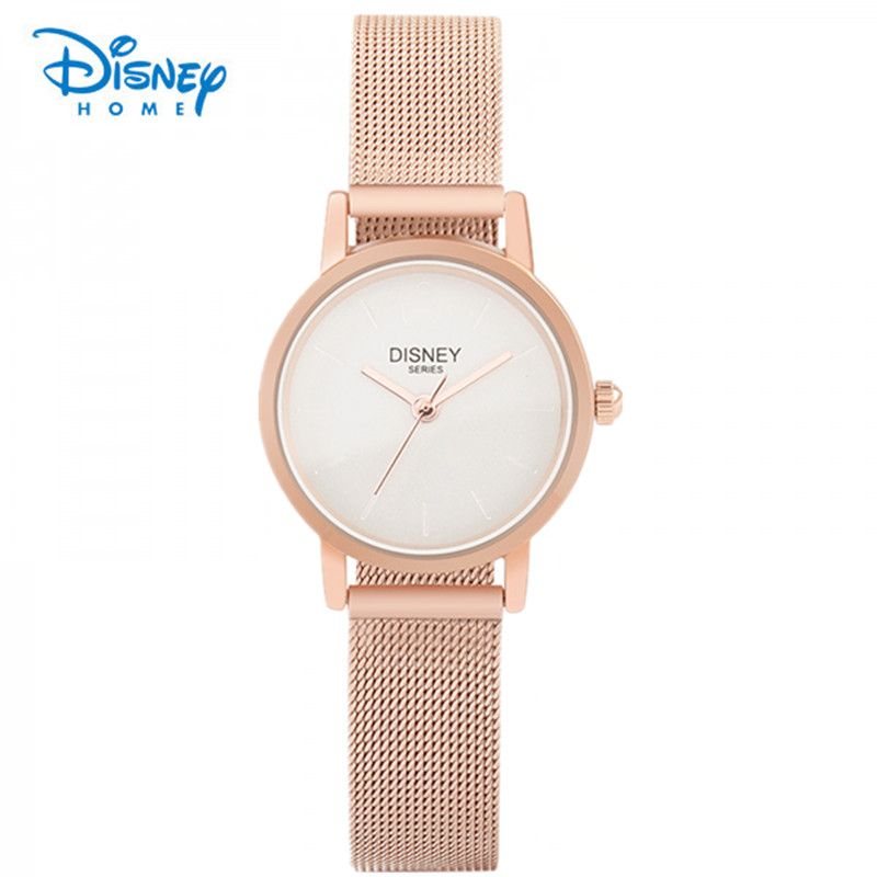 100% Genuine Disney New Fashion Stainless Gold Steel Watch Casual Women Wristwatch Luxury Quartz Watches Relogio Feminino Gift