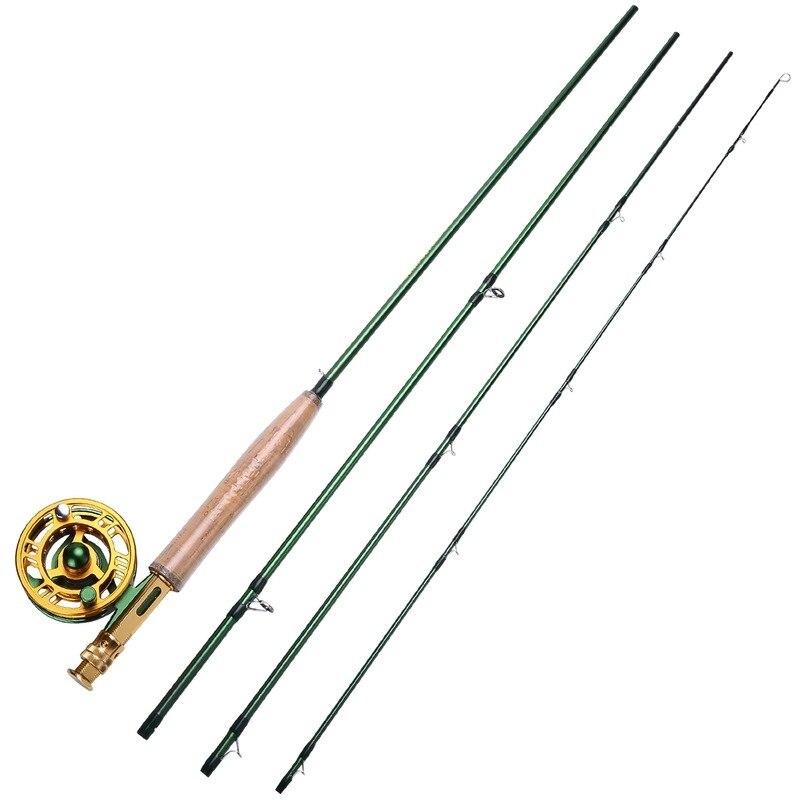 Sougayialng 8.86FT #5/6 canne à pêche à la mouche Set 2.7 M canne à mouche et moulinet à la mouche Combo avec ligne de leurre de pêche boîte ensemble matériel de canne à pêche - 6